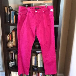 White House Black Market 14 Pink Slim Ankle Jeans